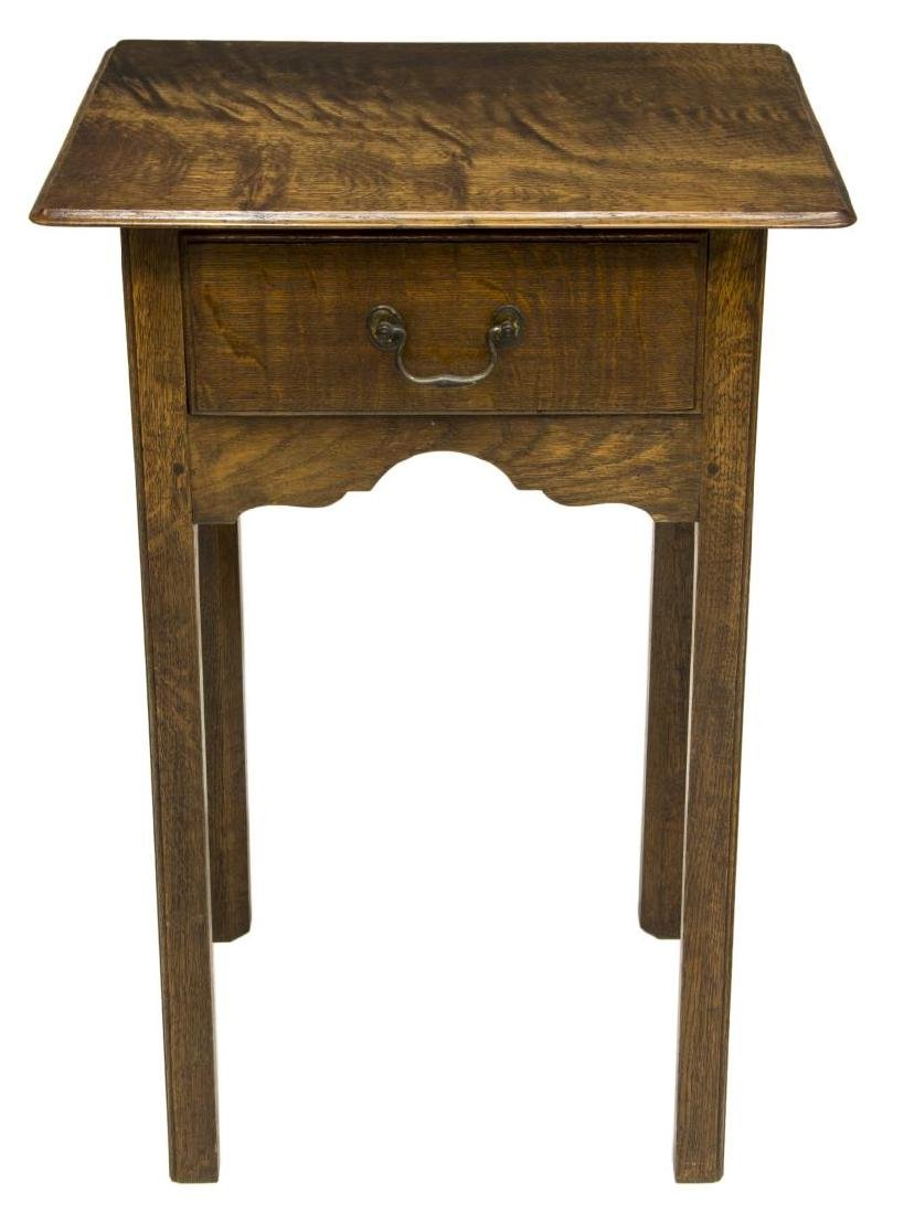 ENGLISH OAK SIDE TABLE, C. 1960 - 2