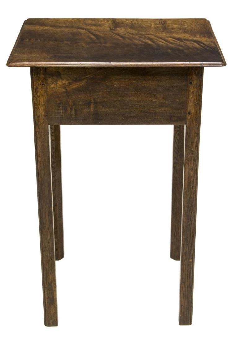 ENGLISH OAK SIDE TABLE, C. 1960 - 3
