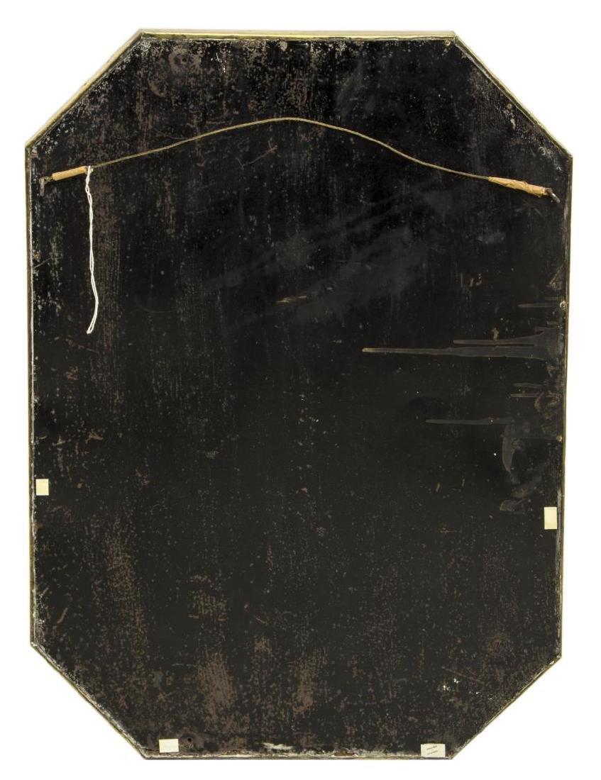 GILT HAMMERED BRASS WALL MIRROR, C. 1940 - 3