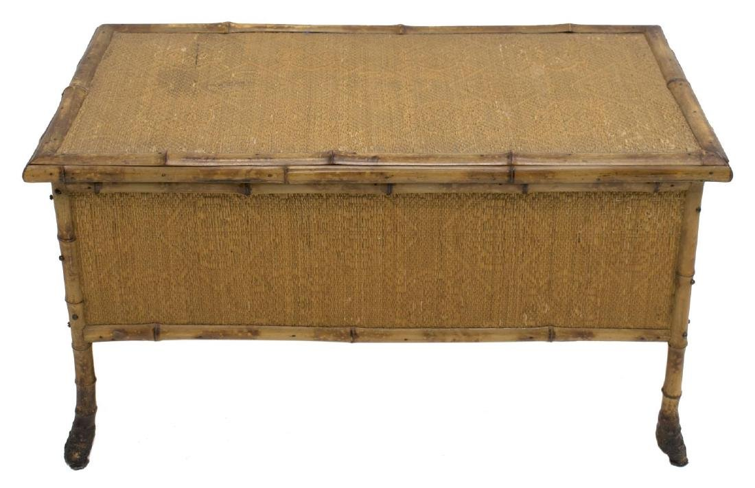 BAMBOO AND CANE BLANKET CHEST - 2