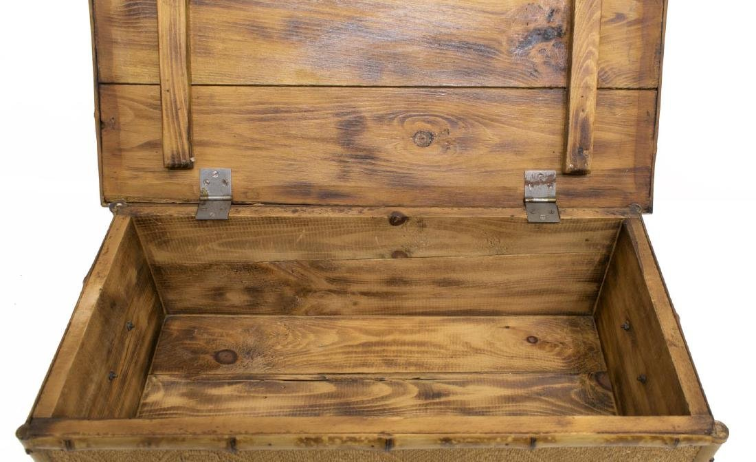 BAMBOO AND CANE BLANKET CHEST - 3