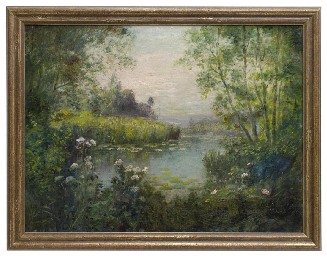 FRAMED OIL ON CANVAS PAINTING, SIGNED JEAN DRIVA - 2