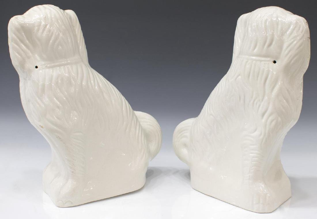 (PAIR) ENGLISH STAFFORDSHIRE FIGURES MANTLE DOGS - 2