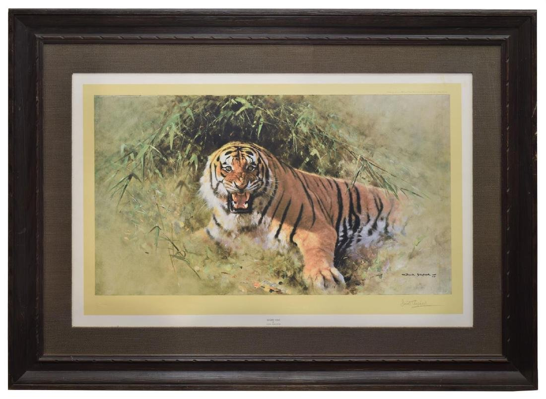 DAVID SHEPHERD (D.2017) SIGNED PRINT 'TIGER FIRE' - 2