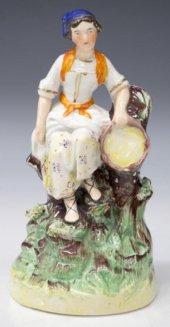 (PAIR) ENGLISH STAFFORDSHIRE FIGURES OF MUSICIANS - 2