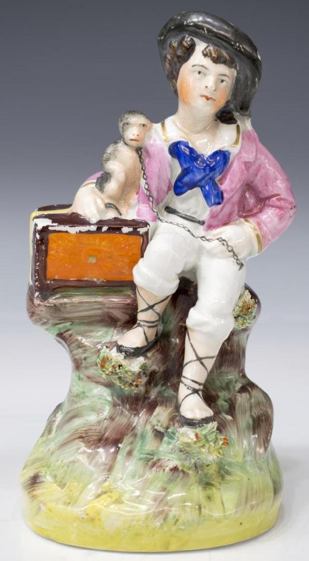 (PAIR) ENGLISH STAFFORDSHIRE FIGURES OF MUSICIANS - 3
