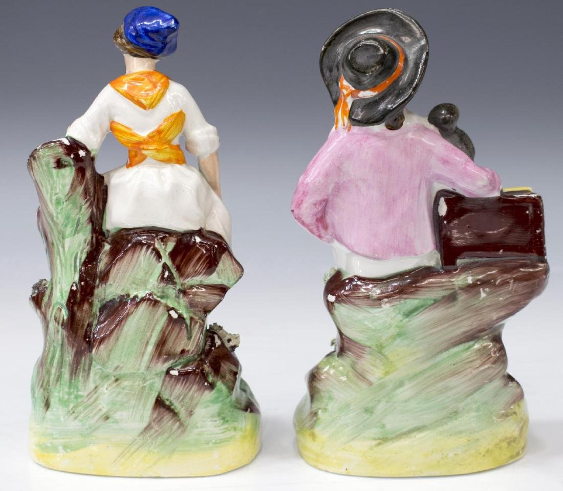 (PAIR) ENGLISH STAFFORDSHIRE FIGURES OF MUSICIANS - 4