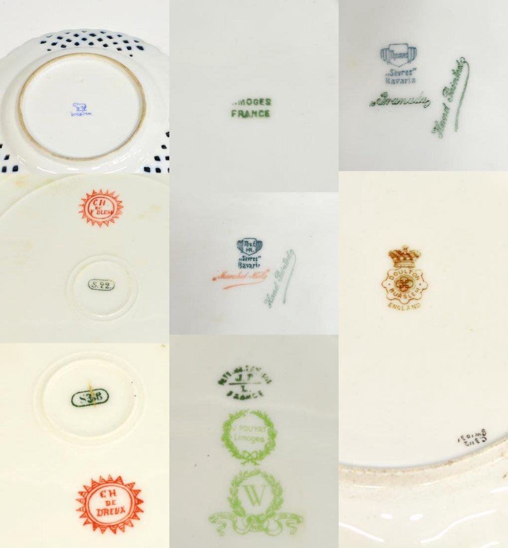 (9) ENGLISH & CONTINENTAL PORCELAIN CABINET PLATES - 6