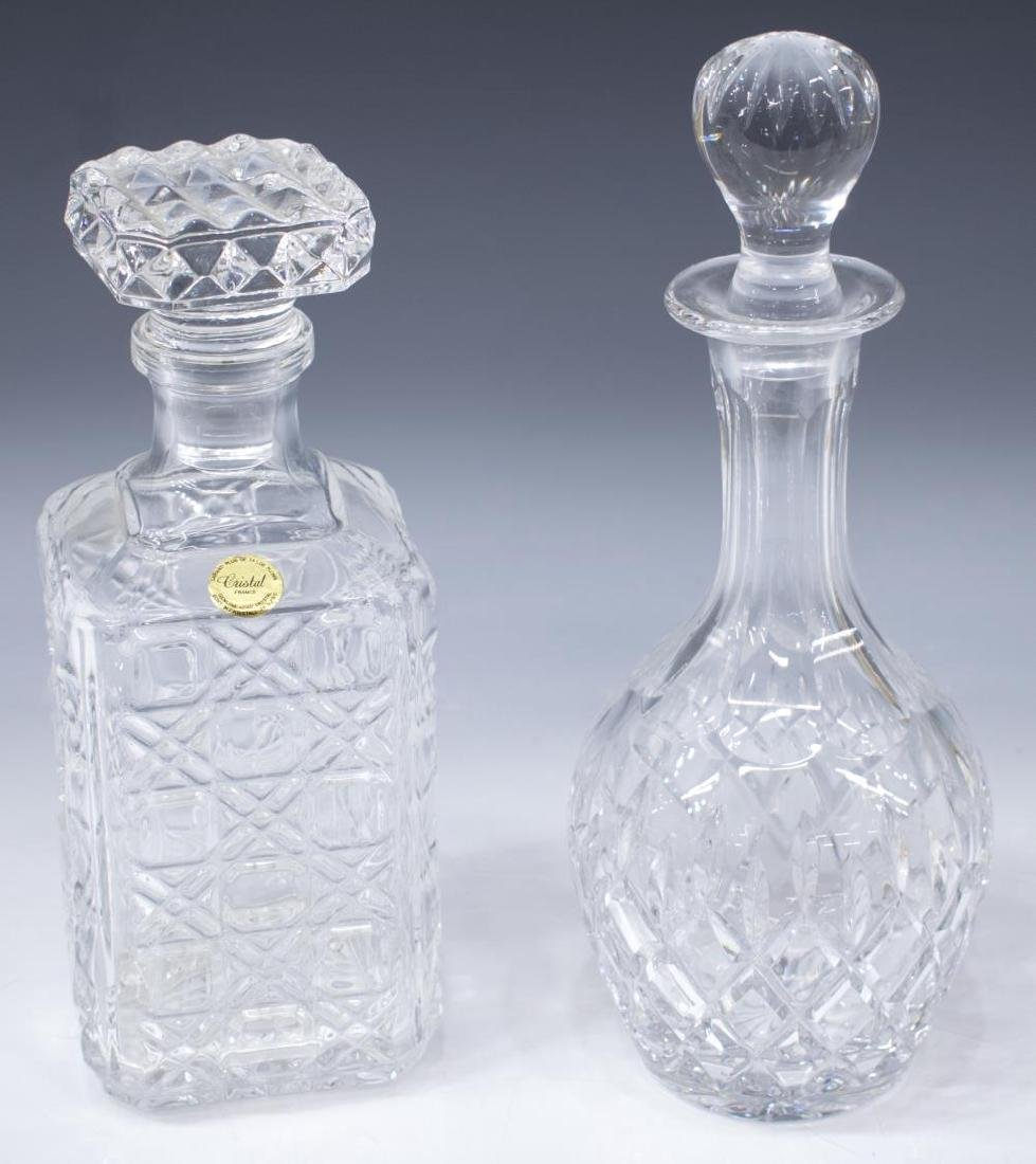 (6) COLLECTON COLORLESS CUT & PRESSED DECANTERS - 2
