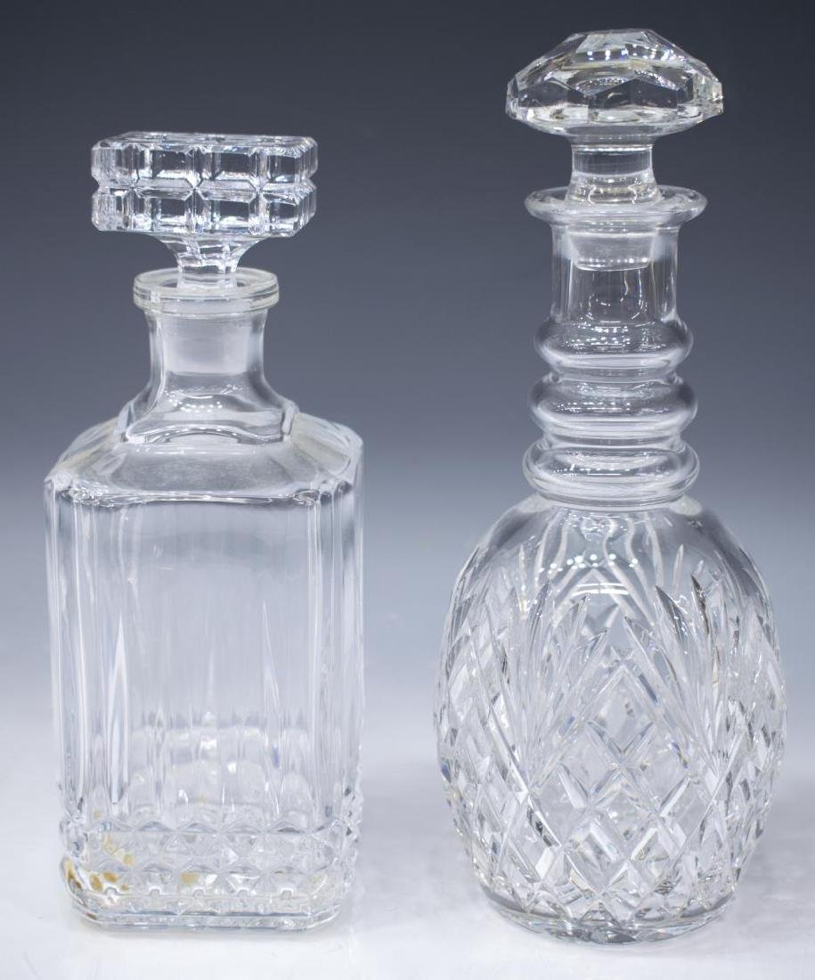 (6) COLLECTON COLORLESS CUT & PRESSED DECANTERS - 3