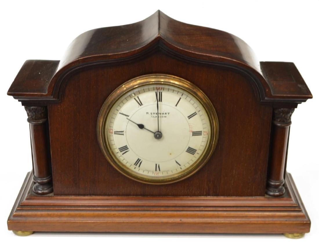 EDWARDIAN MAHOGANY R. STEWART MANTLE CLOCK