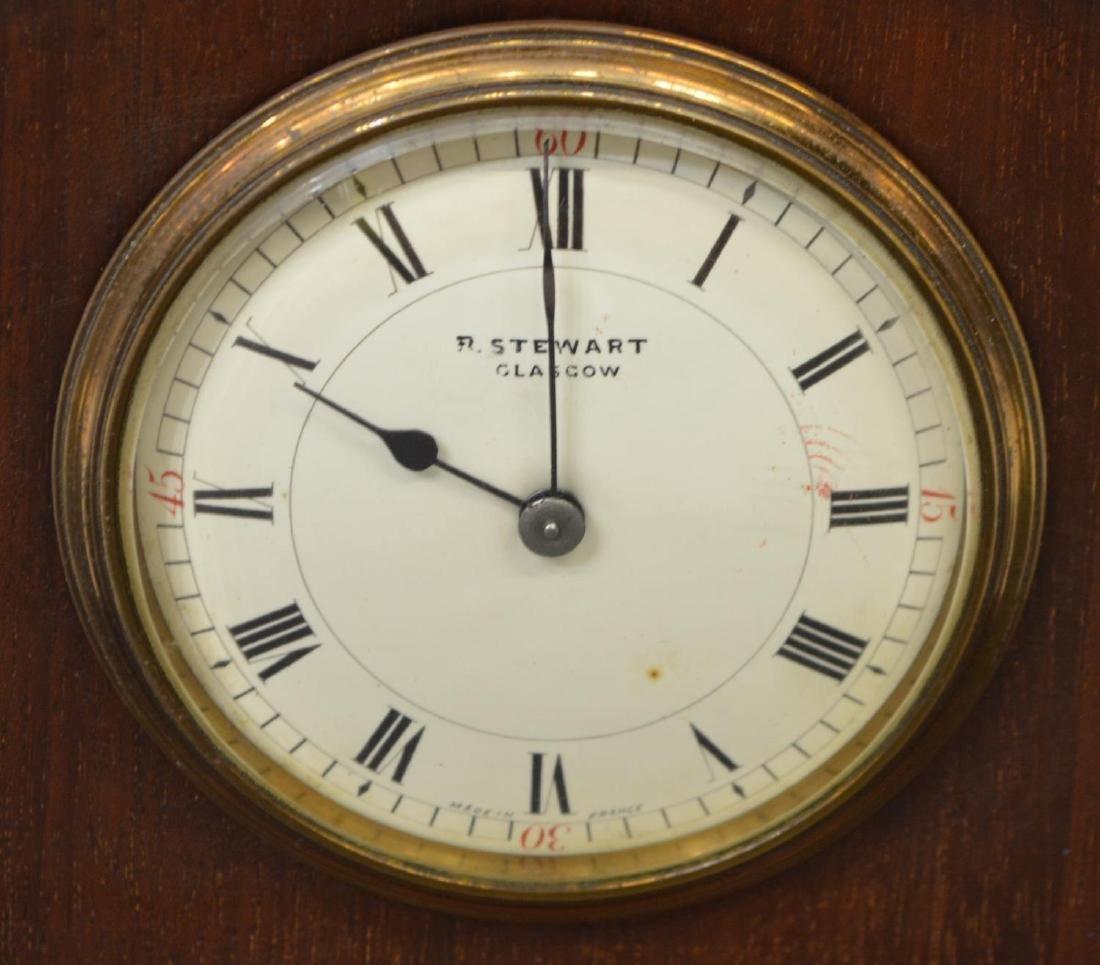 EDWARDIAN MAHOGANY R. STEWART MANTLE CLOCK - 2
