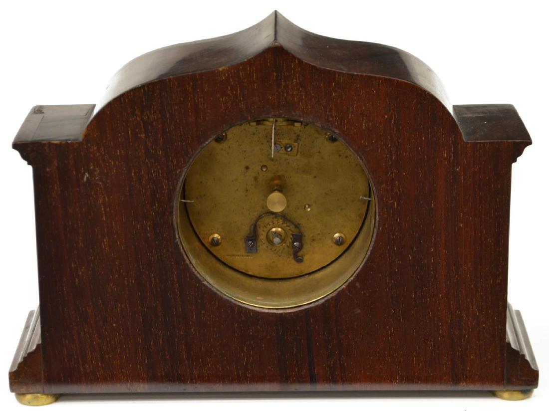 EDWARDIAN MAHOGANY R. STEWART MANTLE CLOCK - 3
