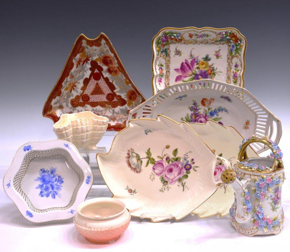 (9) GERMAN, ENGLISH & OTHER PORCELAIN TABLEWARE