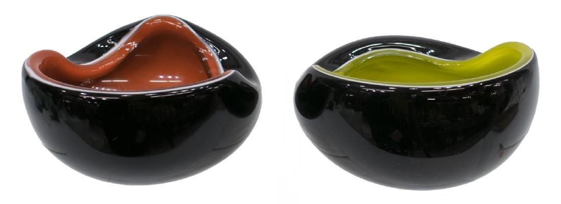 (2) MURANO MID-CENTURY MODERN CASED GLASS BOWLS - 2