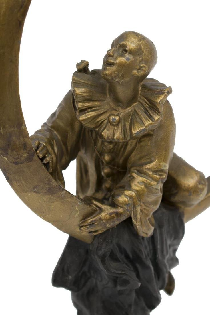 FRENCH CAST SCULPTURE AFTER A. FORETAY, PIERROT - 2