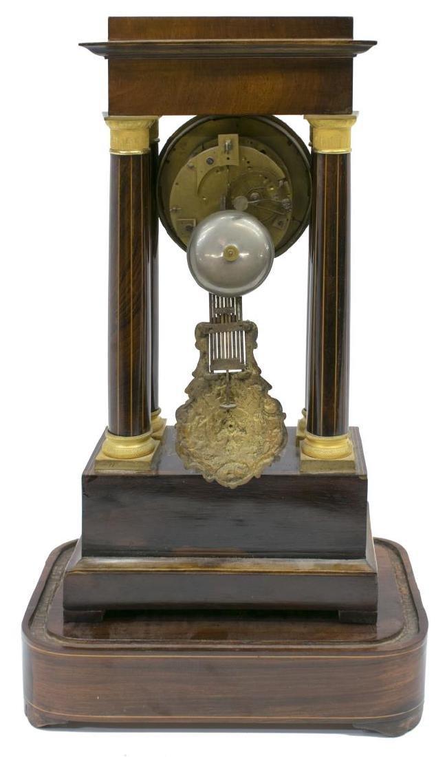 NAPOLEON III PERIOD MARQUETRY PORTICO CLOCK - 3
