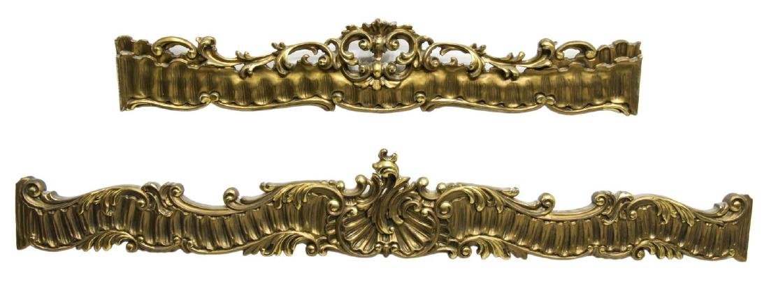 (2) CONTINENTAL GILTWOOD CURTAIN VALENCE OR PELMET