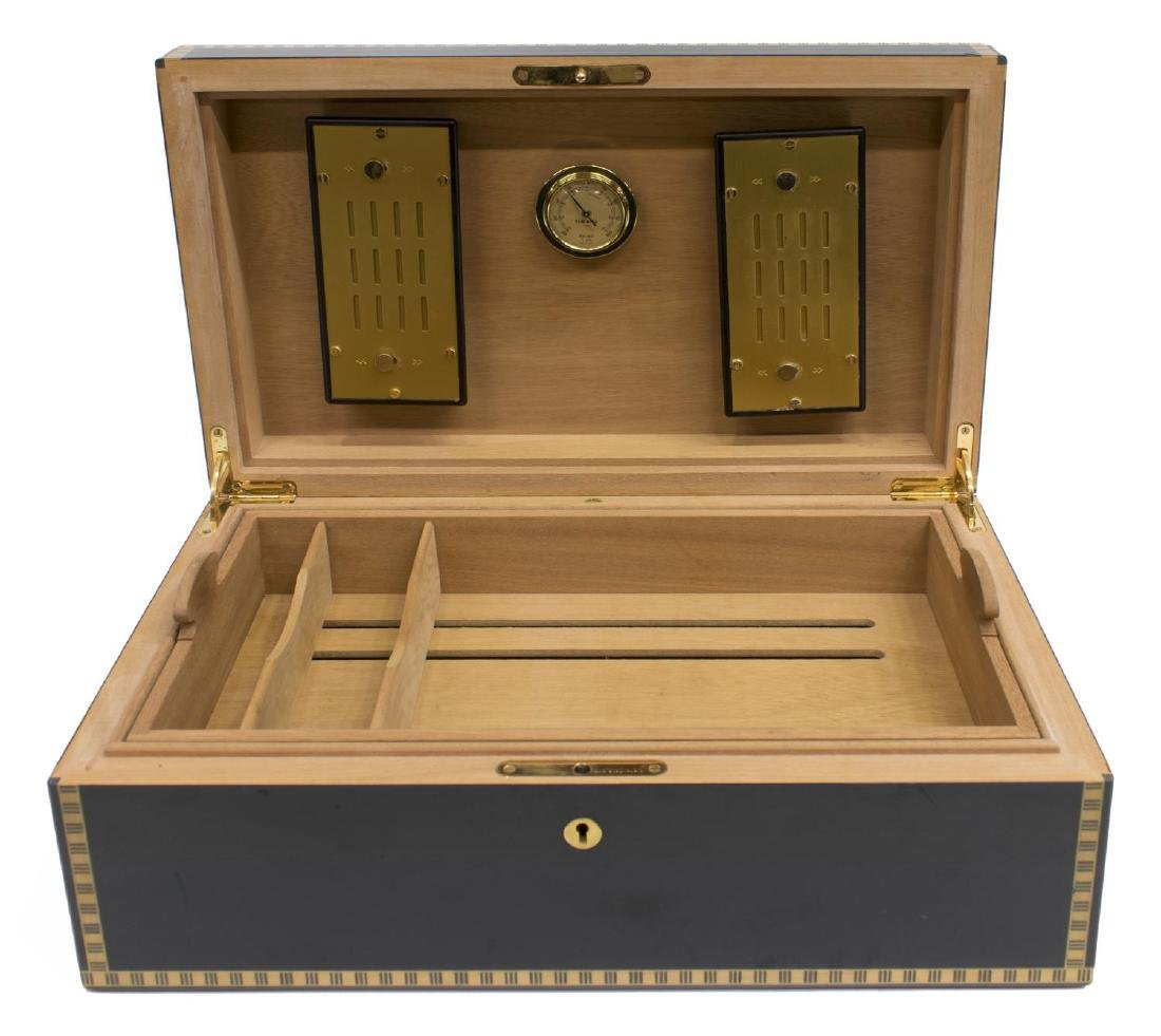FRENCH ELI BLEU BLACK MEDALS 120 CIGAR HUMIDOR - 3