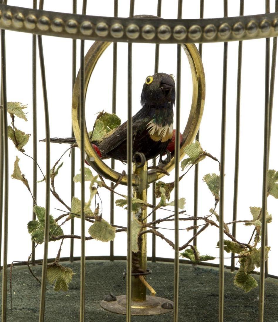 GERMAN GRIESBAUM AUTOMATON SINGING BIRD IN CAGE - 2