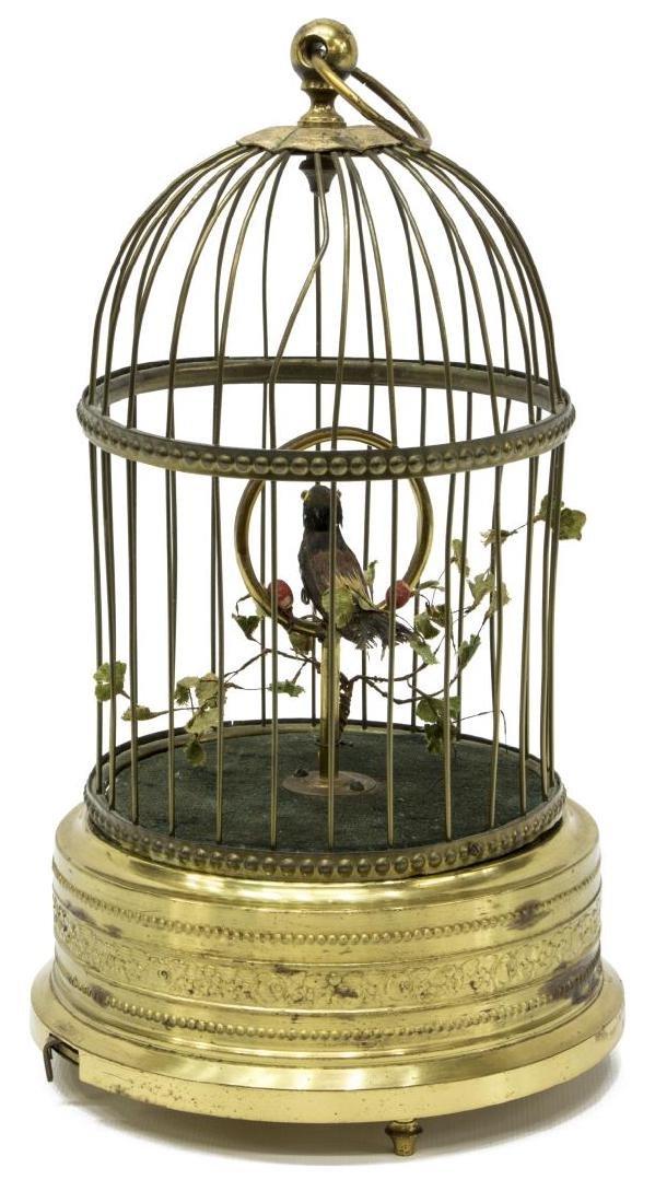 GERMAN GRIESBAUM AUTOMATON SINGING BIRD IN CAGE - 3