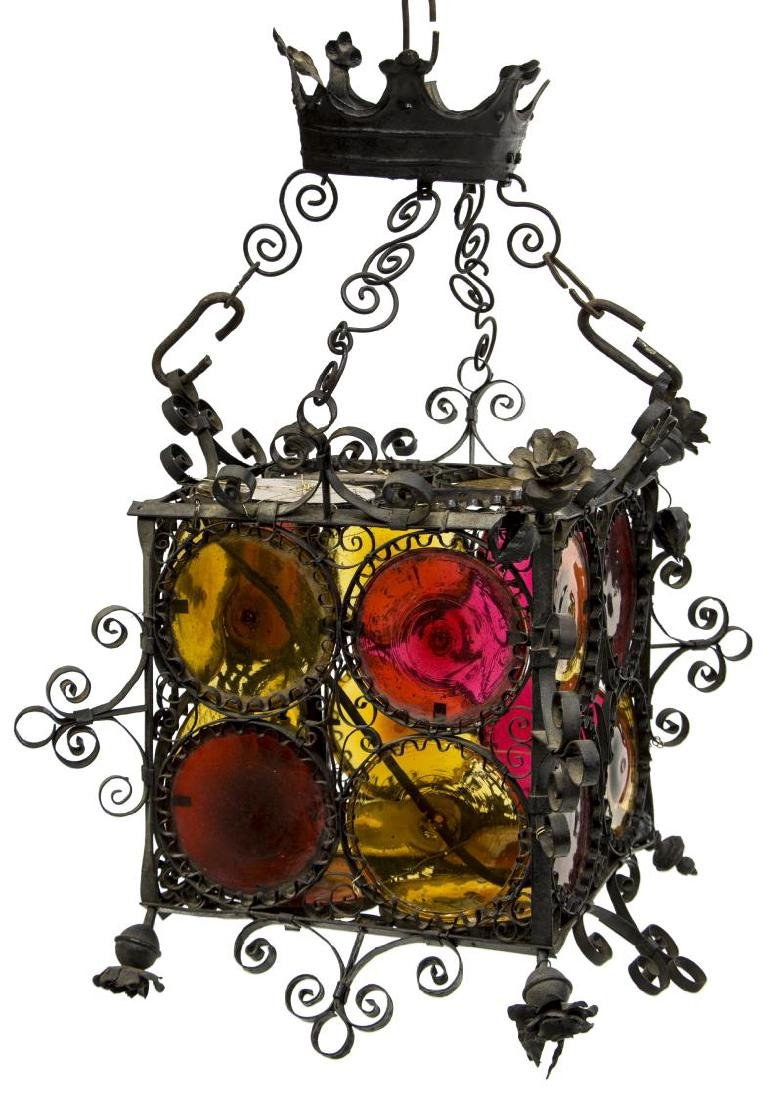 ITALIAN WROUGHT IRON BOTTEGA COPPEDE LANTERN