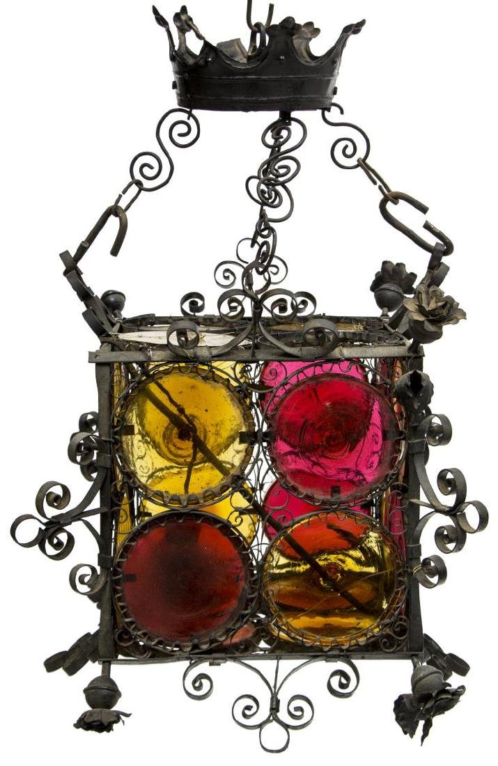 ITALIAN WROUGHT IRON BOTTEGA COPPEDE LANTERN - 2