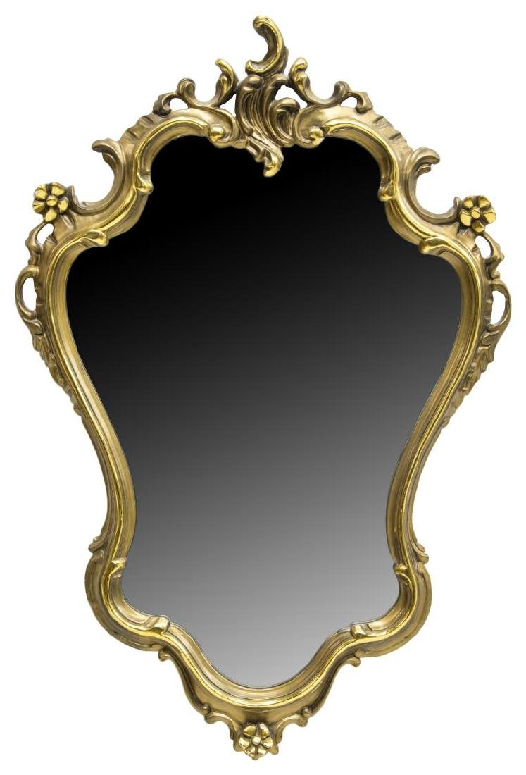 ITALIAN LOUIS XV STYLE CARVED GILT MIRROR