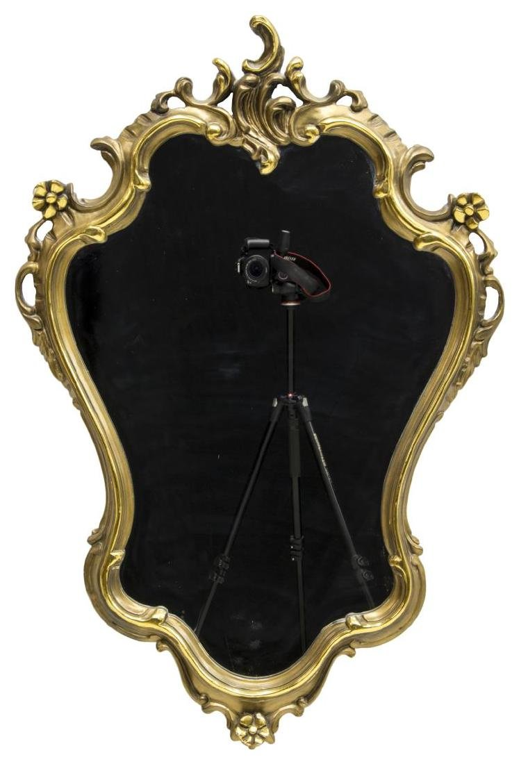 ITALIAN LOUIS XV STYLE CARVED GILT MIRROR - 2