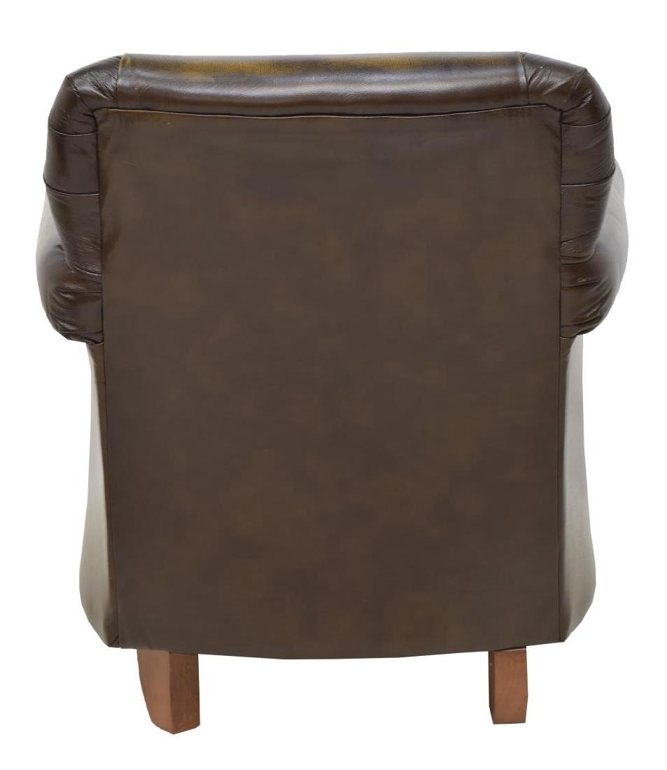 CHESTERFIELD BROWN LEATHER GENTS CLUB CHAIR - 3