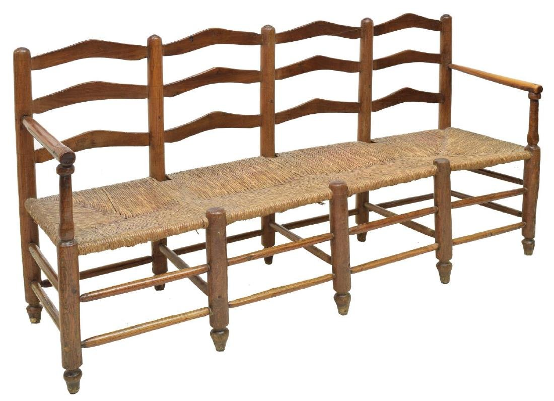 FRENCH FOUR SEAT BENCH