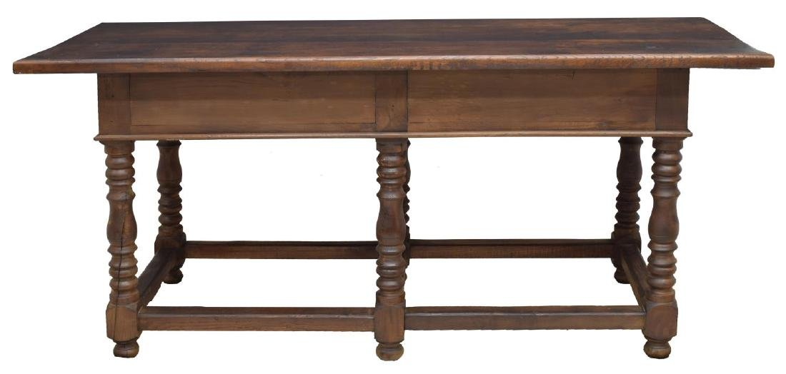 SPANISH BAROQUE STYLE OAK REFECTORY TABLE - 2