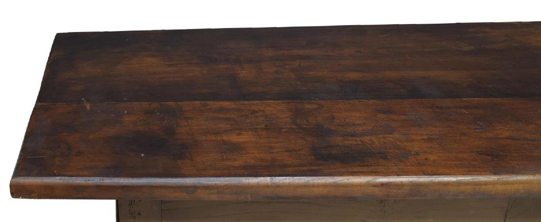 SPANISH BAROQUE STYLE OAK REFECTORY TABLE - 3
