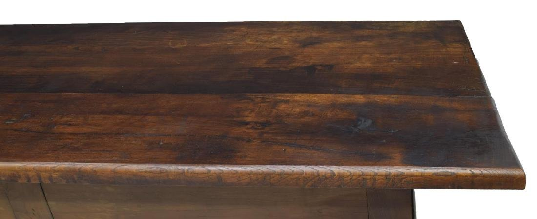 SPANISH BAROQUE STYLE OAK REFECTORY TABLE - 4