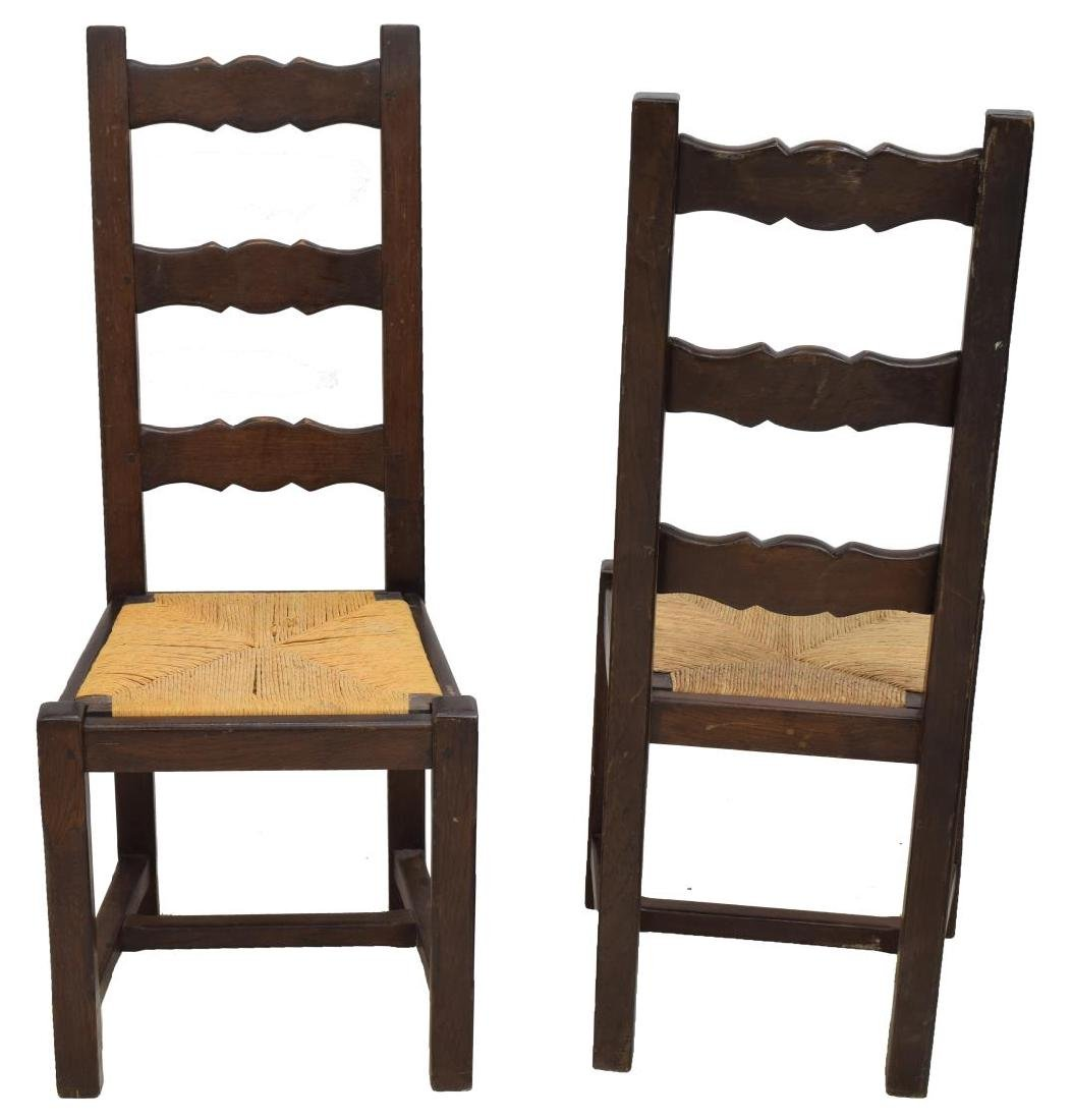 (6) FRENCH COUNTRY PROVINCIAL OAK DINING CHAIRS - 2