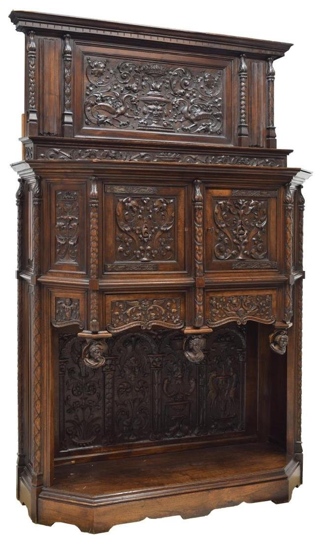 RENAISSANCE REVIVAL HEAVILY CARVED CABINET