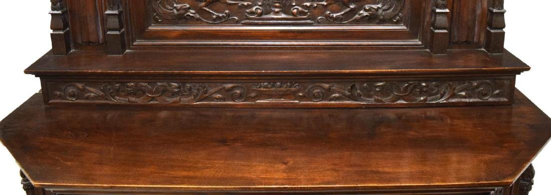 RENAISSANCE REVIVAL HEAVILY CARVED CABINET - 3