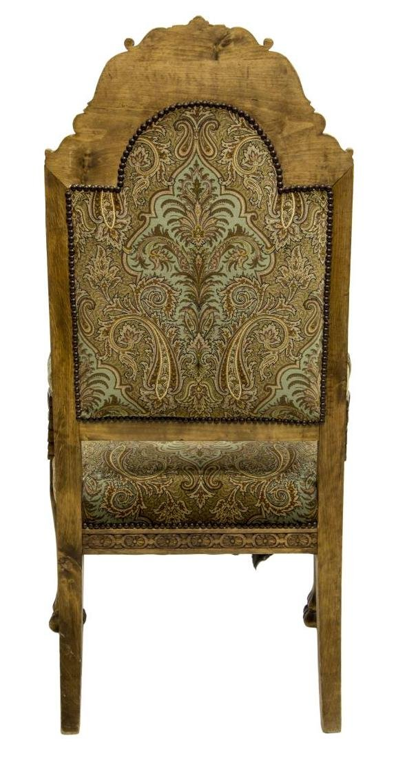 RENAISSANCE REVIVAL CARVED WINGED GRIFFIN ARMCHAIR - 5