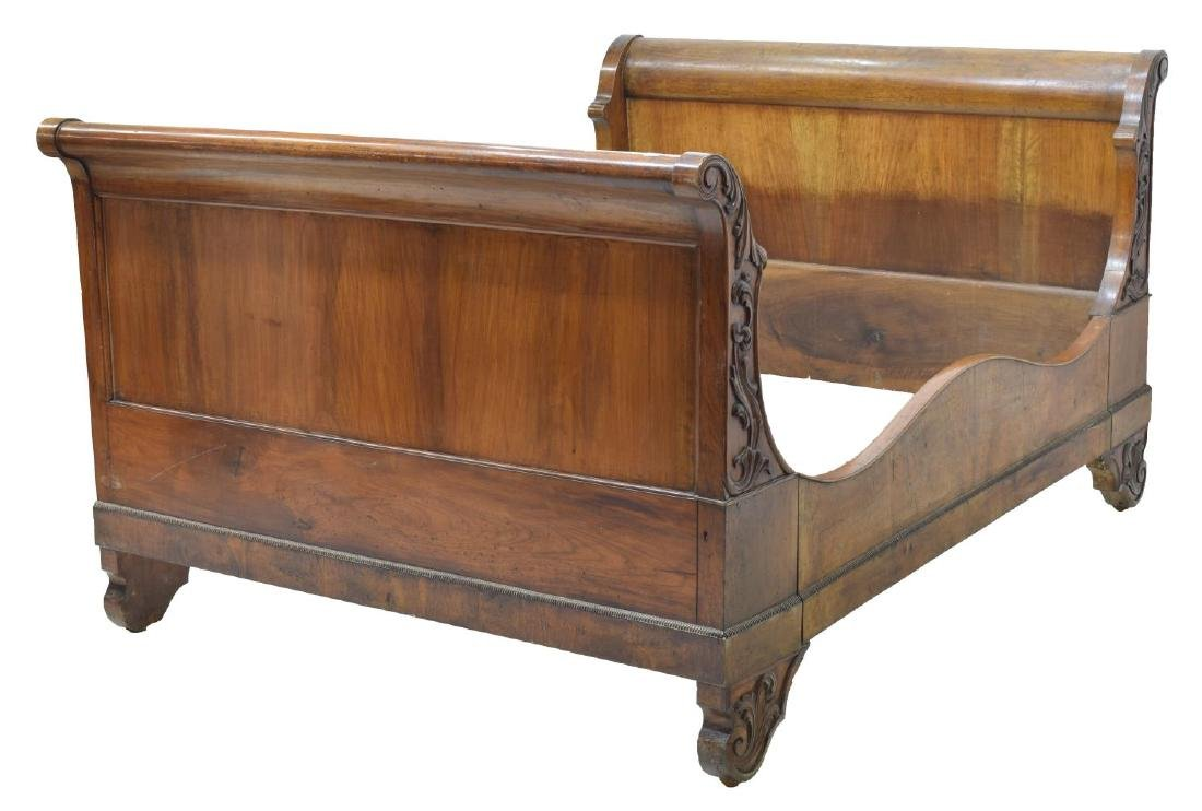 CONTINENTAL CHARLES X STYLE WALNUT SLEIGH BED - 2