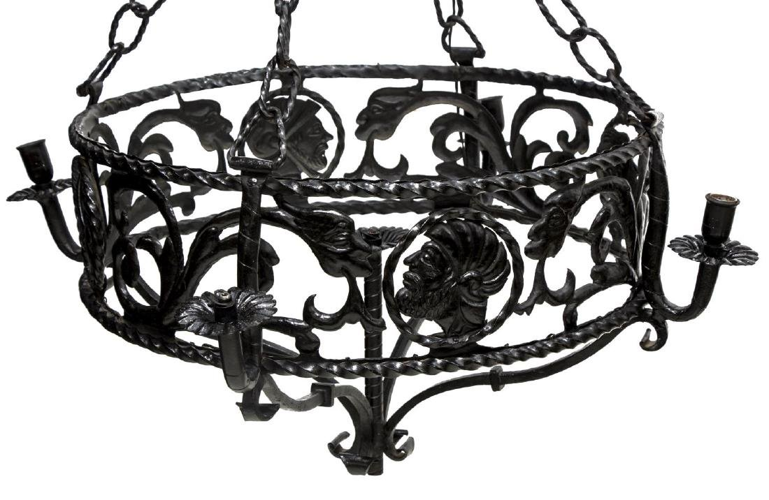 NORTHERN SPAIN IRON RENAISSANCE REVIVAL CHANDELIER