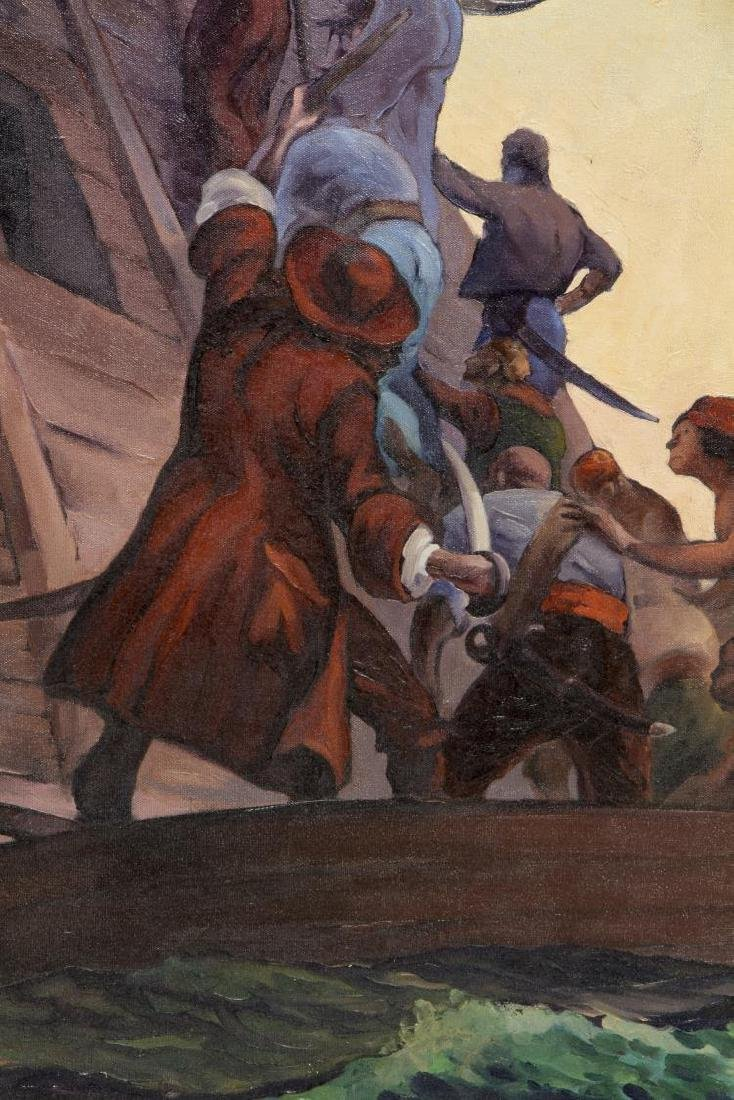 WALTER KNAPP (B.1907) ILLUSTRATOR ART OIL PAINTING - 2