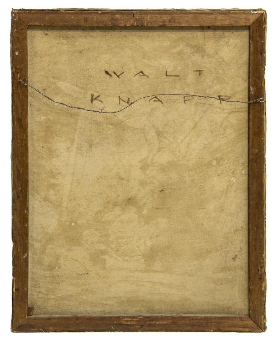 WALTER KNAPP (B.1907) ILLUSTRATOR ART OIL PAINTING - 3
