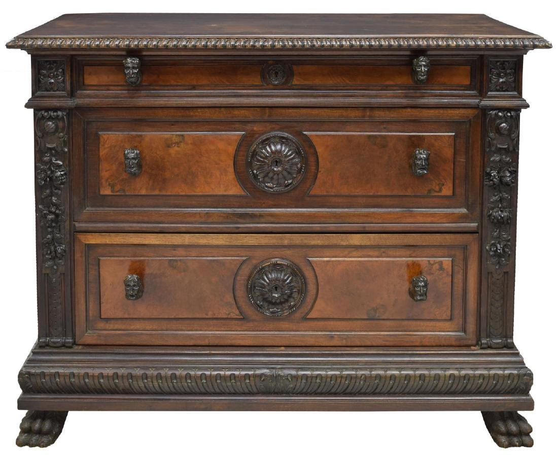 ITALIAN RENAISSANCE REVIVAL CARVED FIGURAL COMMODE - 2