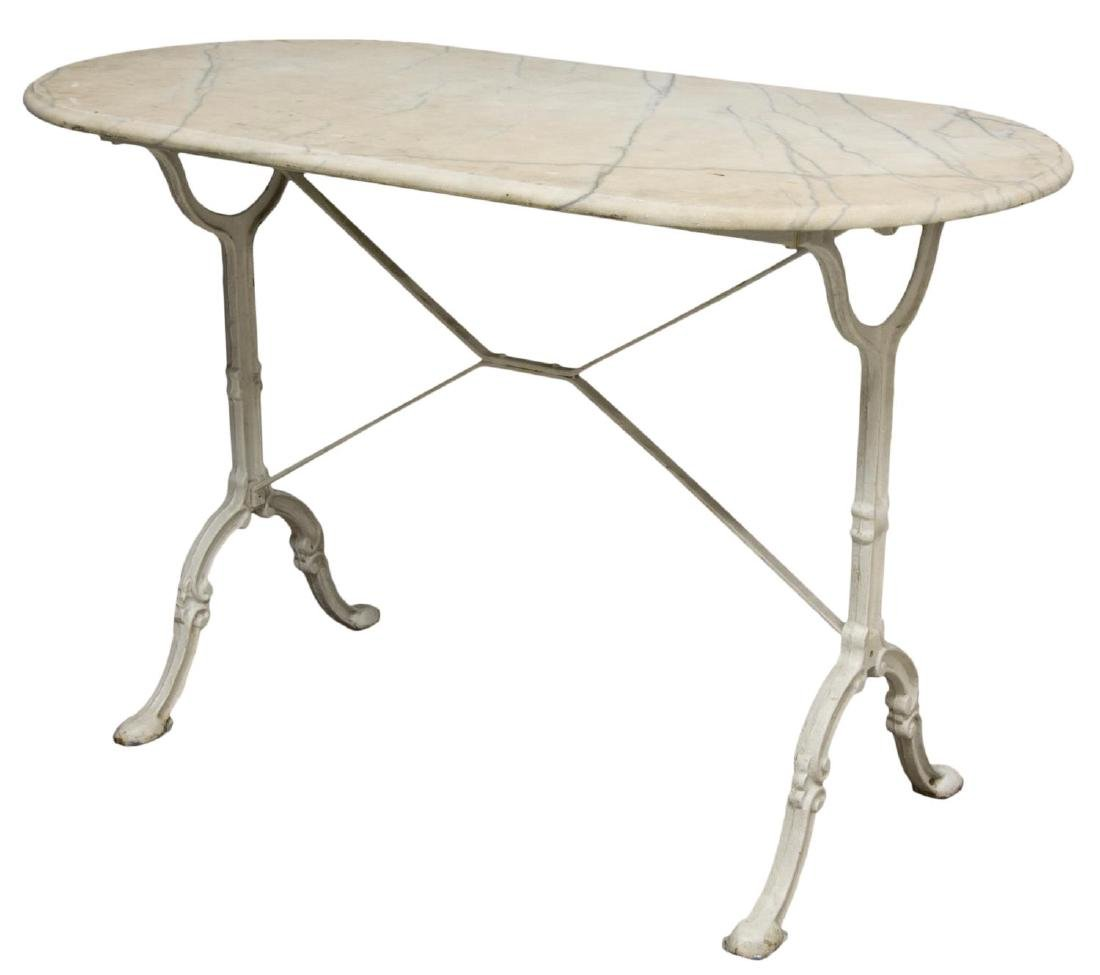 FRENCH MARBLE & IRON BISTRO TABLE