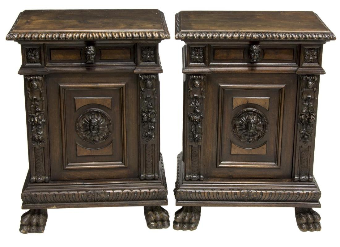 (2) ITALIAN RENAISSANCE REVIVAL CARVED CABINETS - 2