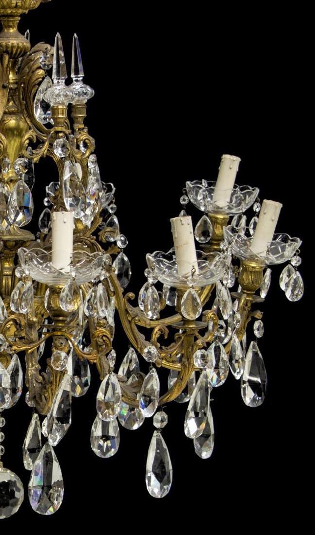 ITALIAN GILT BRONZE & CRYSTAL TEN-LIGHT CHANDELIER - 2