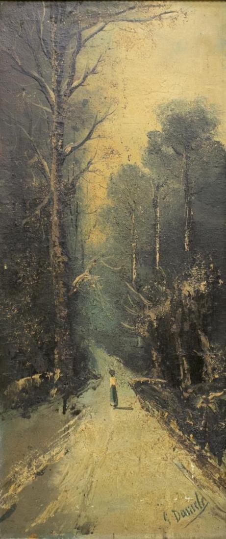 GIUSEPPE DANIELI (ATTRIB.) FRAMED OIL PAINTING