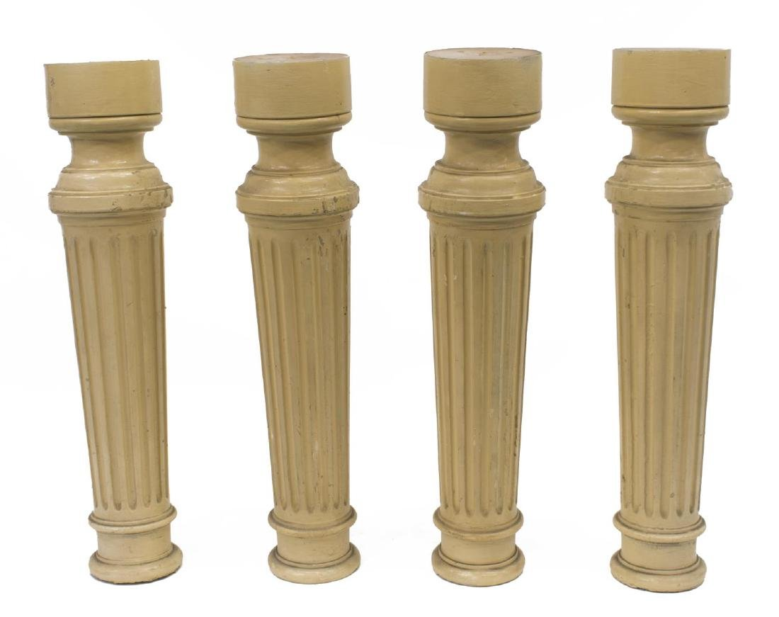 (4) ITALIAN PAINTED WOOD ARCHITECTURAL ELEMENTS