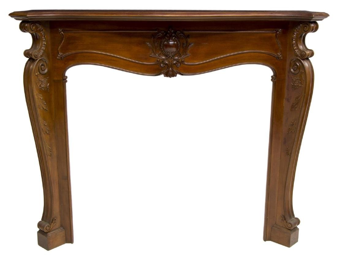 ARCHITECTURAL CARVED FIREPLACE MANTELPIECE