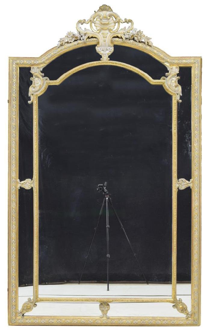 MONUMENTAL LOUIS XV STYLE PARCEL GILT MIRROR - 2